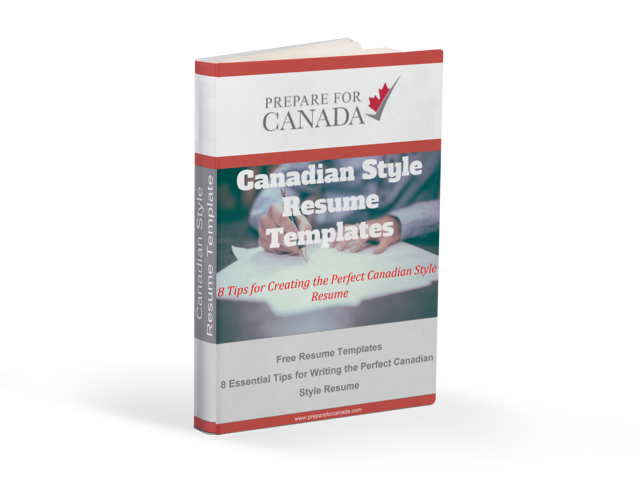 canadian style resume template - Free Canadian Resume Templates