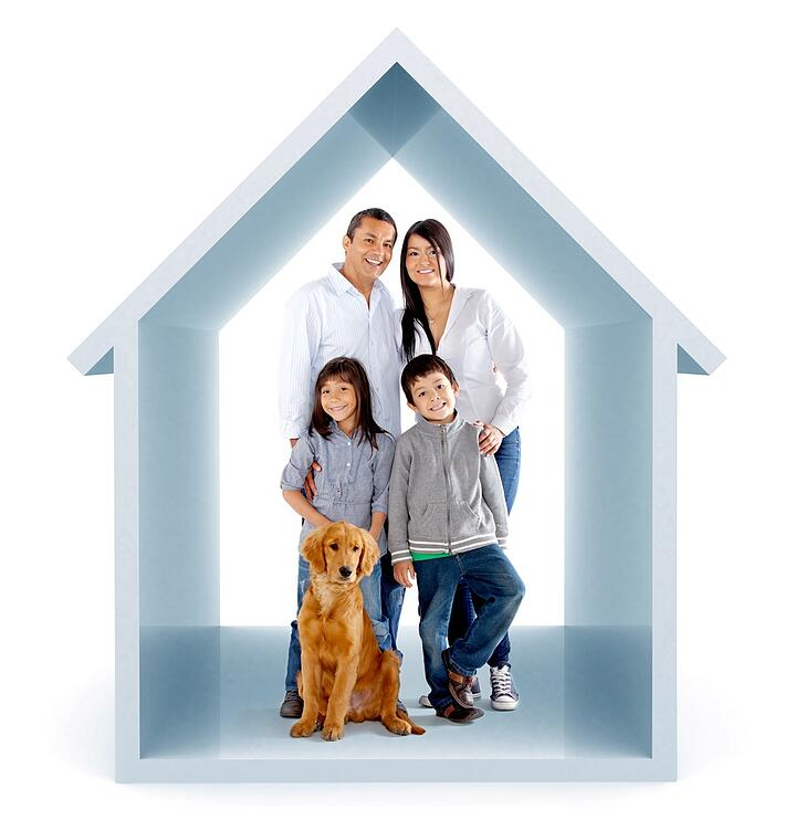 Family in a 3D house illustration - isolated over a white background.jpeg