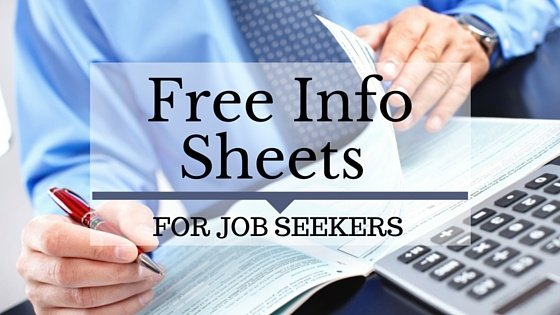 Free info sheets for job seekers