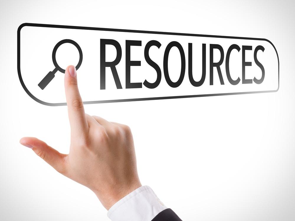 Resources written in search bar on virtual screen.jpeg